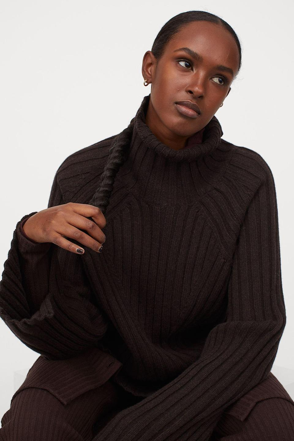 <p>This <span>H&amp;M Wool Turtleneck Sweater</span> ($35, originally $70) is dramatic in the best possible way.</p>