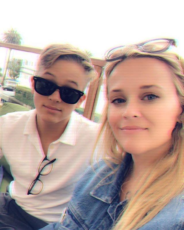 """<p>Reese has been spotted by paparazzi <a href=""""https://www.hollywoodpipeline.com/2018/11/20/reese-witherspoon-son-deacon-for-jog/"""" rel=""""nofollow noopener"""" target=""""_blank"""" data-ylk=""""slk:jogging around her neighbourhood"""" class=""""link rapid-noclick-resp"""">jogging around her neighbourhood</a> with her son, Deacon. </p><p><a href=""""https://www.instagram.com/p/BmBxflYHG7e/"""" rel=""""nofollow noopener"""" target=""""_blank"""" data-ylk=""""slk:See the original post on Instagram"""" class=""""link rapid-noclick-resp"""">See the original post on Instagram</a></p>"""
