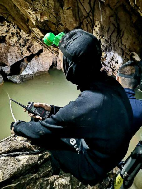 PHOTO: A diver works on a plan to rescue 12 boys and their soccer coach who remain trapped inside the Tham Luang Nang Non cave, Chiang Rai province, Thailand. (Asaf Zmirly)