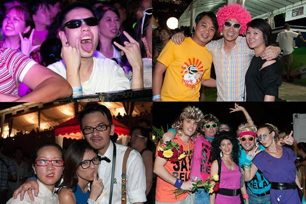 Retrolicious, the event that proves Singaporeans can let their hair down. (Yahoo! photos)