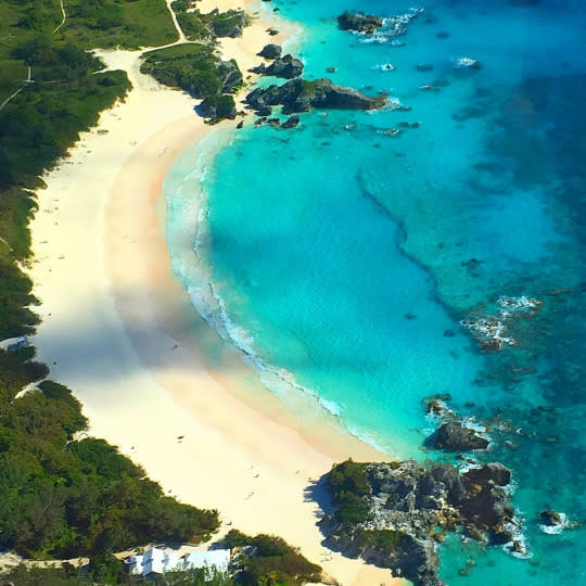 "<p>A scenic flight over the most underrated island in the Northern Hemisphere, Bermuda, reveals dramatic views of Horseshoe Bay Beach. <i>—<a href=""http://www.leeabbamonte.com/"" rel=""nofollow noopener"" target=""_blank"" data-ylk=""slk:Lee Abbamonte"" class=""link rapid-noclick-resp"">Lee Abbamonte</a></i><br></p>"