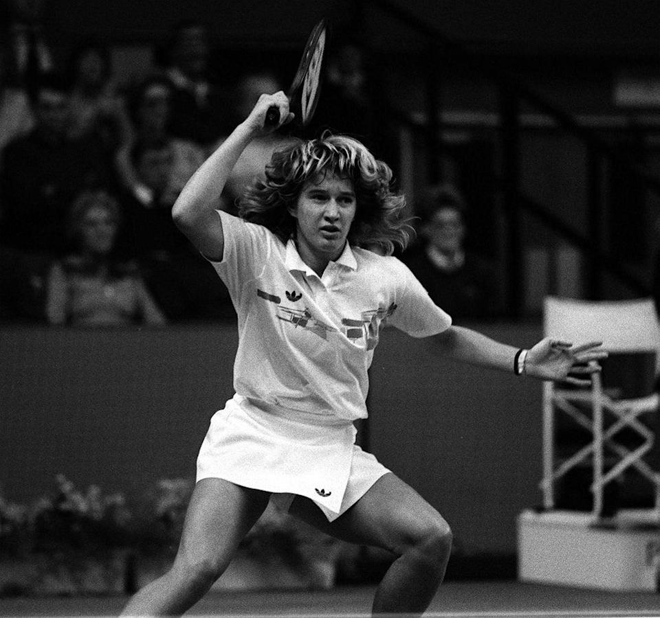 Steffi Graf won her first grand slam title at the age of 16 (PA). (PA Archive)