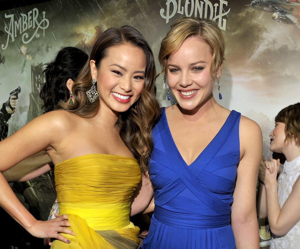 """<a href=""""http://movies.yahoo.com/movie/contributor/1809766996"""">Jamie Chung</a> and <a href=""""http://movies.yahoo.com/movie/contributor/1804856742"""">Abbie Cornish</a> at the Los Angeles premiere of <a href=""""http://movies.yahoo.com/movie/1810133258/info"""">Sucker Punch</a> on March 23, 2011."""