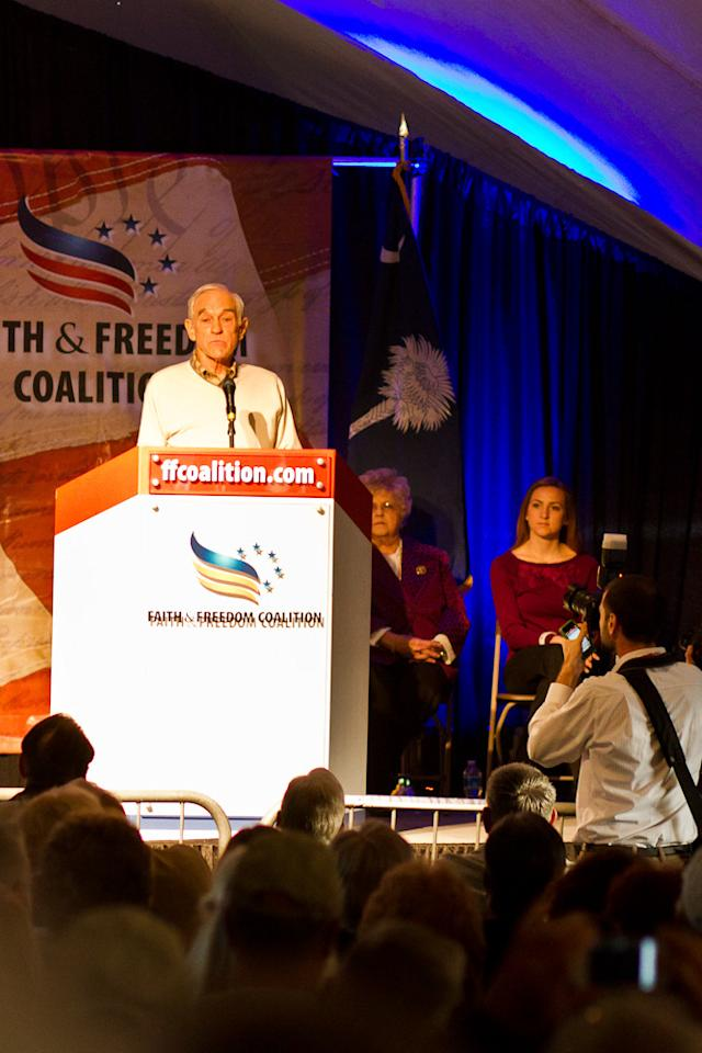 Ron Paul speaking at a Faith and Freedom Coalition event (Flickr/ Brendan Wright )