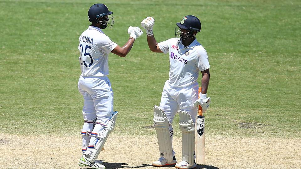 Cheteshwar Pujara and Rishabh Pant, pictured here in action for India in the third Test.
