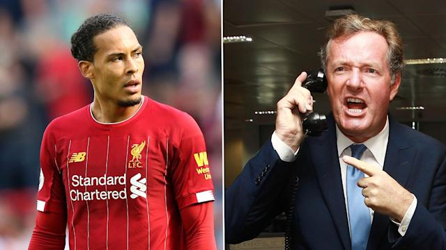 The Liverpool defender responded to the English broadcaster's claim that he isn't in the same league as the Juventus star