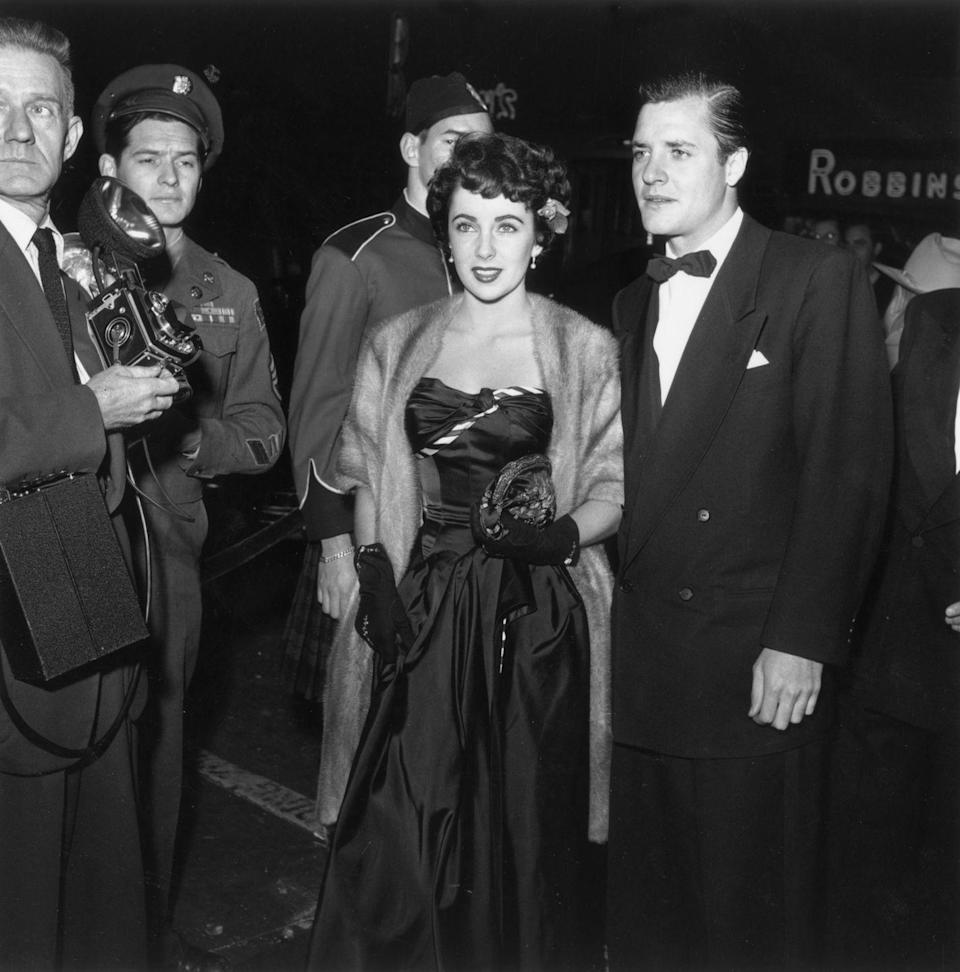 <p>Elizabeth Taylor shot to stardom as a child actor in films like <em>Lassie Come Home </em>and <em>National Velvet</em>. However, since these films were released during World War II, there were no premieres. Taylor's first big red carpet premiere was for <em>A Date With Judy </em>in 1948 </p>