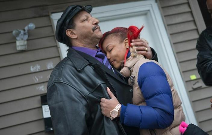The father and daughter of Bettie Jones, killed by a police officer in 2015 in Chicago in a death ruled an accident (AFP Photo/SCOTT OLSON)