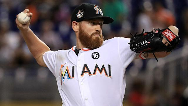 The Marlins' right-hander is happy he's still in Miami, despite the team's busy offseason that saw the departure of several stars.