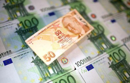 Euro down, safe haven currencies higher on Turkish lira crash