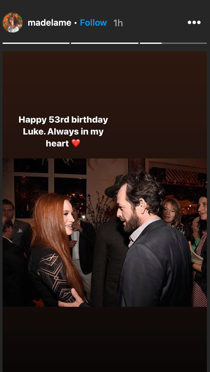 Madelaine Petsch shared a touching photo of herself and Luke Perry in honor of the late actor's birthday. (Photo: Madelaine Pestch)