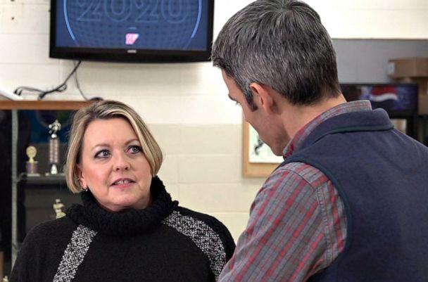 """PHOTO: Lori Egan, a local Democratic leader, is """"hopeful"""" her party can win back Allamakee County, Iowa in 2020 after it swung for Donald Trump four years ago by double-digits.  (ABC News)"""