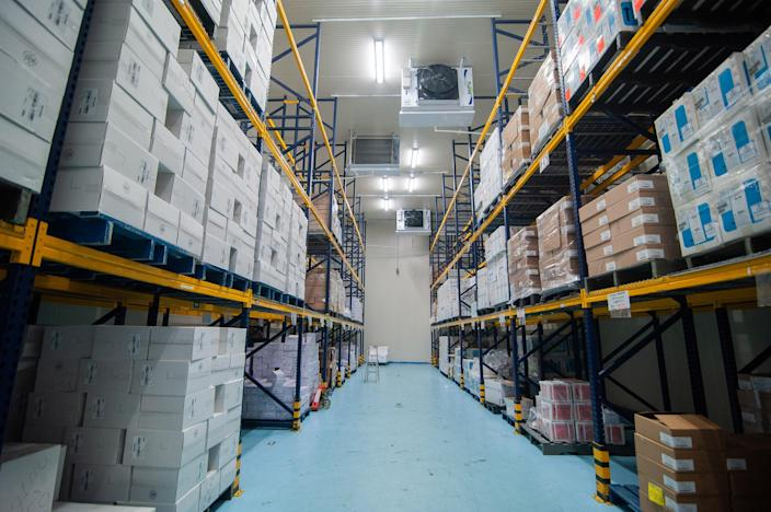 Image: Ultracold freezers in Bogota, Colombia, that will house COVAX vaccines made by Pfizer and AstraZeneca. (Sebastian Barros / NurPhoto via Getty Images file)