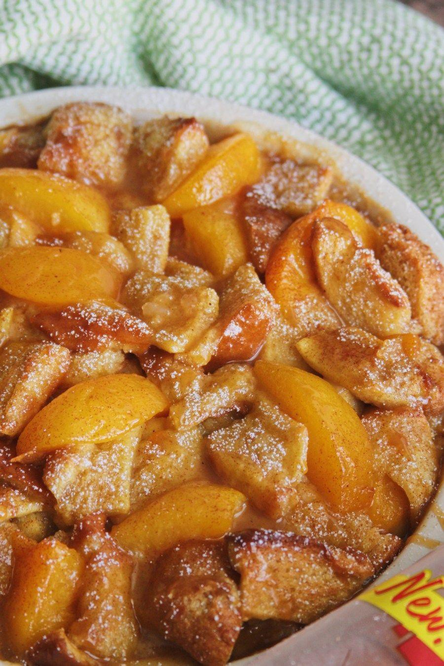 """<p>When this cobbler starts baking, your home will smell absolutely delightful. Don't skip the caramel drizzle on top!</p><p><strong>Get the recipe at <a href=""""https://margaritasontherocks.com/caramel-peach-cobbler-bread-pudding-w-sara-lee-artesano/"""" rel=""""nofollow noopener"""" target=""""_blank"""" data-ylk=""""slk:Margarita's on the Rocks"""" class=""""link rapid-noclick-resp"""">Margarita's on the Rocks</a>.</strong></p><p><a class=""""link rapid-noclick-resp"""" href=""""https://go.redirectingat.com?id=74968X1596630&url=https%3A%2F%2Fwww.walmart.com%2Fsearch%2F%3Fquery%3Dpioneer%2Bwoman%2Bcasserole&sref=https%3A%2F%2Fwww.thepioneerwoman.com%2Ffood-cooking%2Frecipes%2Fg36382592%2Fpeach-desserts%2F"""" rel=""""nofollow noopener"""" target=""""_blank"""" data-ylk=""""slk:SHOP CASSEROLES"""">SHOP CASSEROLES</a></p>"""
