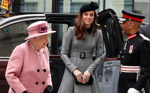 The Royal duo arrive at KCL - Credit: AP