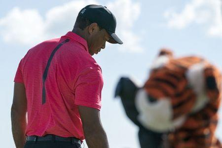 December 3, 2017; New Providence, The Bahamas; Tiger Woods on the driving range during the final round of the Hero World Challenge golf tournament at Albany. Kyle Terada-USA TODAY Sports