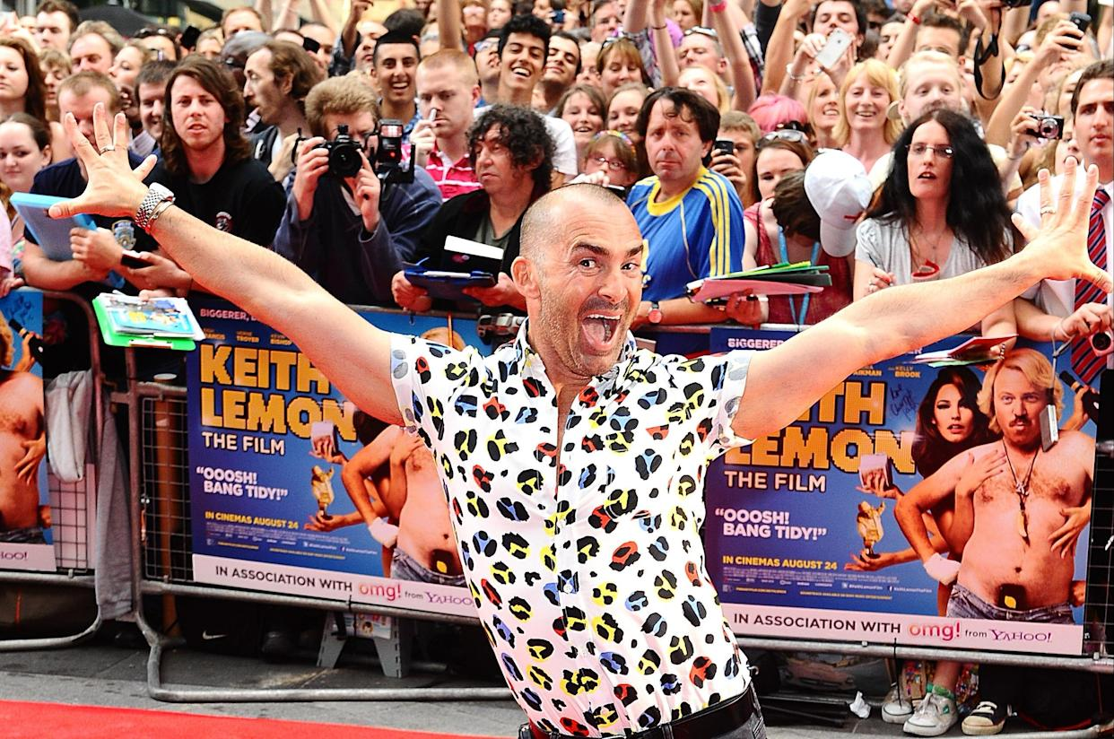 Louie Spence arriving for the UK Premiere of Keith Lemon : The Film, at the Vue West End, London.