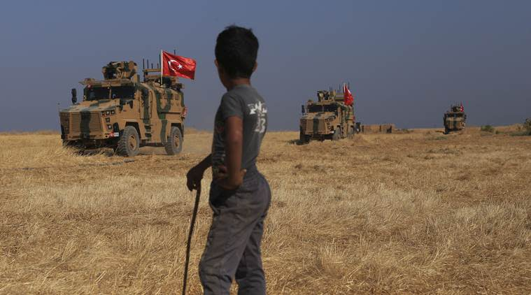 Turkey's first military fatality, Syria incursion, Turkey-Syria, Turkey's Defense Ministry, Turkish soldier, Indian express