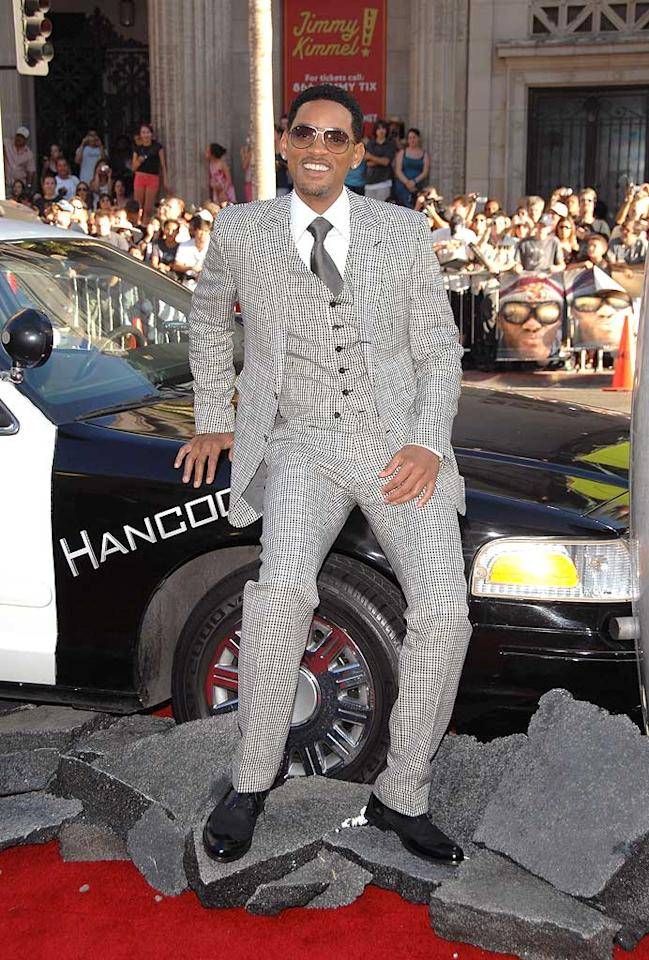 "What was Will Smith thinking when he selected this unsightly suit for the premiere of his new action flick? John Shearer/<a href=""http://www.wireimage.com"" target=""new"">WireImage.com</a> - June 30, 2008"