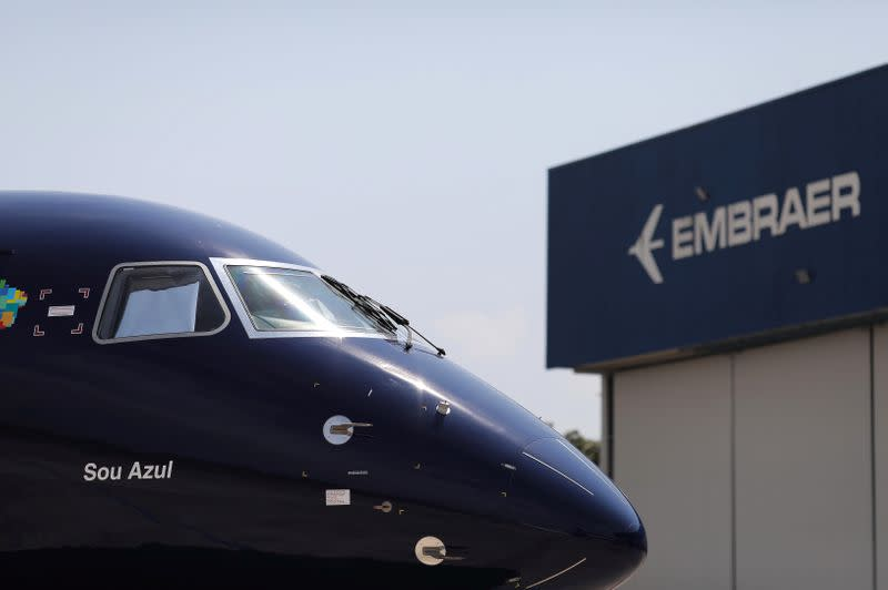 Embraer's commercial aviation revenue falls by 82%