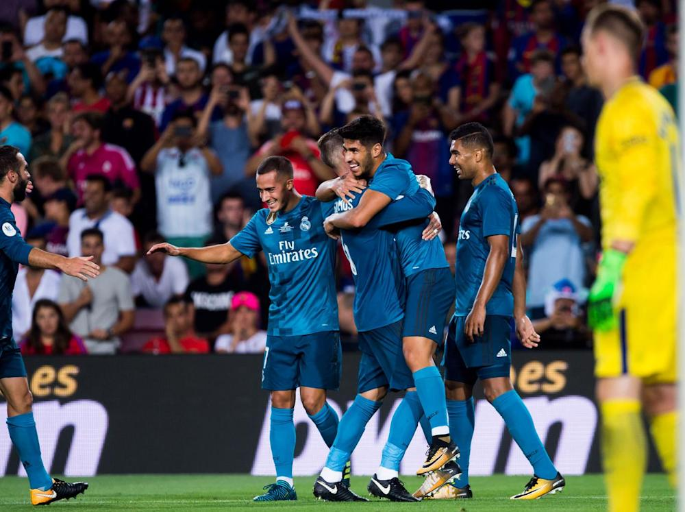 Real Madrid beat Barcelona 3-1 in the Super Cup first leg (Getty)