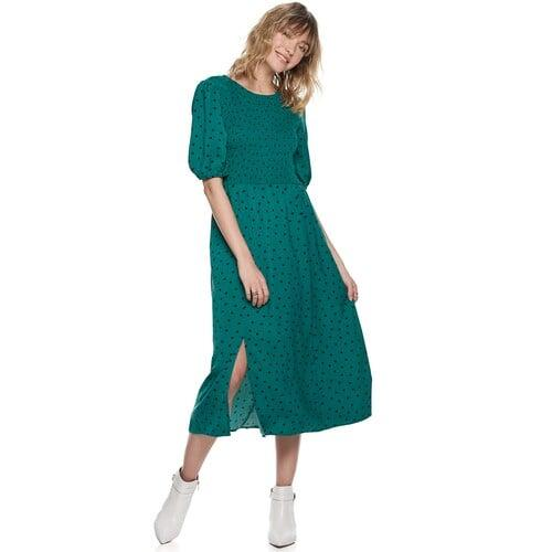 "<p><a href=""https://www.popsugar.com/buy/POPSUGAR-Smocked-Bodice-Midi-Dress-518886?p_name=POPSUGAR%20Smocked%20Bodice%20Midi%20Dress&retailer=kohls.com&pid=518886&price=68&evar1=fab%3Aus&evar9=46877311&evar98=https%3A%2F%2Fwww.popsugar.com%2Fphoto-gallery%2F46877311%2Fimage%2F46909860%2FPOPSUGAR-Smocked-Bodice-Midi-Dress&list1=shopping%2Cdresses%2Cwinter%20fashion%2Cwinter%20shopping%2Cfashion%20shopping%2Caffordable%20shopping%2Cpopsugar%20at%20kohls&prop13=api&pdata=1"" rel=""nofollow"" data-shoppable-link=""1"" target=""_blank"" class=""ga-track"" data-ga-category=""Related"" data-ga-label=""https://www.kohls.com/product/prd-3940226/womens-popsugar-smocked-bodice-midi-dress.jsp?color=Storm%20Party%20Dot&amp;prdPV=3"" data-ga-action=""In-Line Links"">POPSUGAR Smocked Bodice Midi Dress</a> ($68)</p>"
