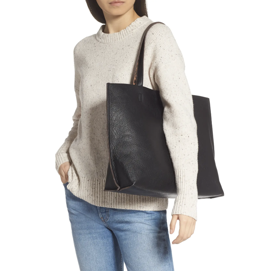 Street Level Reversible Faux Leather Tote & Wristlet - Nordstrom.