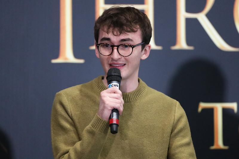 Actor Isaac Hempstead Wright, who plays Bran Stark in Game of Thrones, at the launch of the Game of Thrones touring exhibition at the Titanic Exhibition Centre in Belfast. (Photo by Liam McBurney/PA Images via Getty Images)