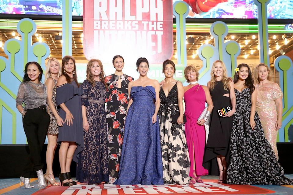Disney princesses at premiere of Ralph Breaks the Internet (Credit: Getty)