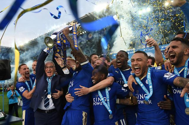 The Foxes went from 5000-to-1 long shots to No. 1 in the Premier League. (Getty Images)