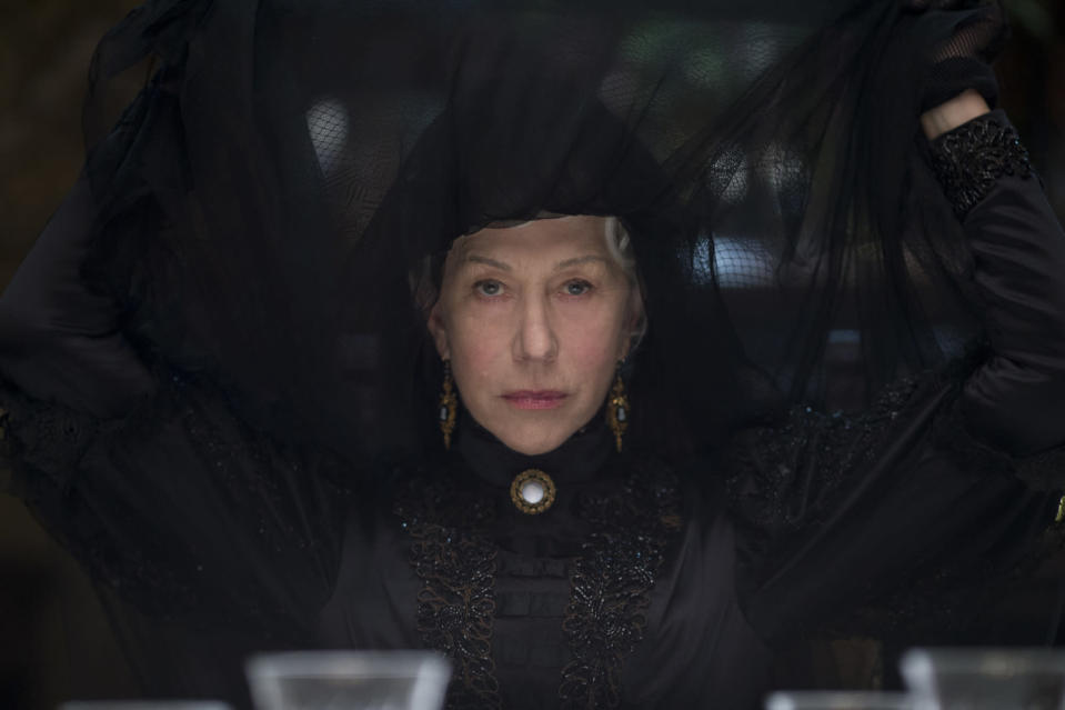 """This image released by CBS Films shows Helen Mirren in a scene from """"Winchester."""" (Ben King/CBS Films via AP)"""