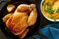 "Whiz any cooked squash with tahini, lemon, and garlic for hummus-like spread that tastes great with roast chicken. <a href=""https://www.bonappetit.com/recipe/roast-chicken-butternut-tahini-puree?mbid=synd_yahoo_rss"" rel=""nofollow noopener"" target=""_blank"" data-ylk=""slk:See recipe."" class=""link rapid-noclick-resp"">See recipe.</a>"