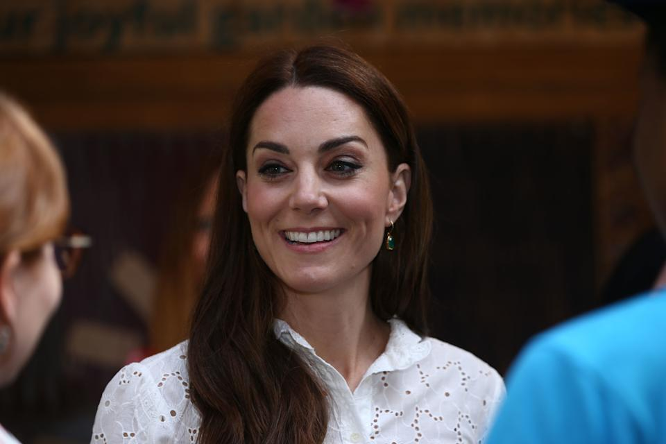 LONDON, UNITED KINGDOM - MAY 20: Catherine, Duchess of Cambridge at the RHS Chelsea Flower Show at the Royal Hospital Chelsea on May 20, 3019 in London, United Kingdom. (Photo by Yui Mok – WPA Pool/Getty Images)