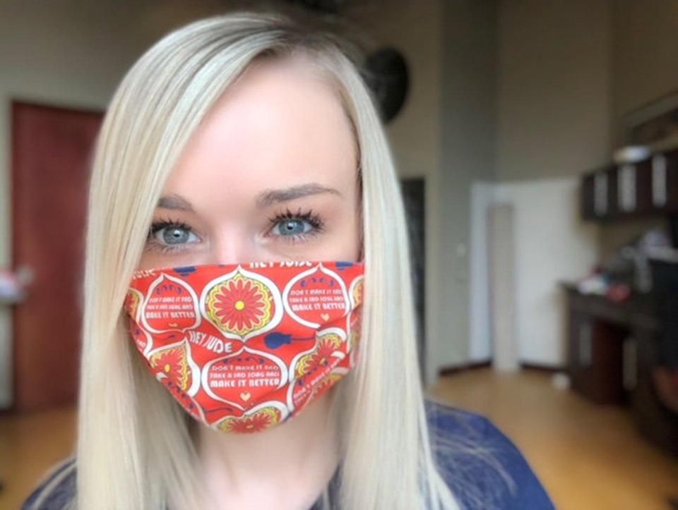 <p>Made by the LuLindsayBoutique on Etsy, these <span>Rock 'n' Roll Handmade Washable Reusable Cloth Face Masks</span> ($13 each) are double layered, as well as reusable. For every mask sold, the brand will donate one additional mask to aid local healthcare groups in need. Pick your favorite design, and start rockin'.</p>