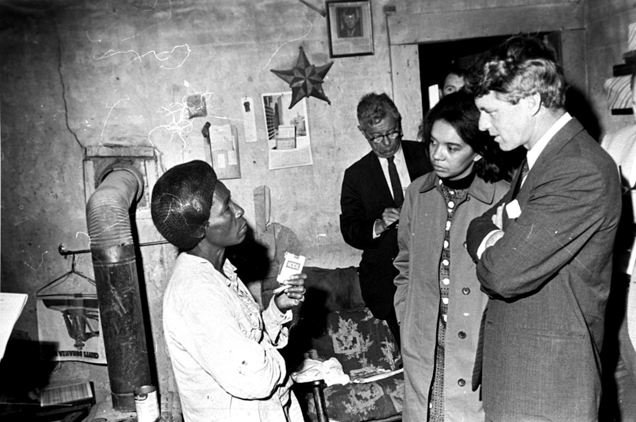 Sen. Robert F. Kennedy on an antipoverty investigation in the Mississippi Delta, March 1967. (Photo: Jack Thornell/AP)