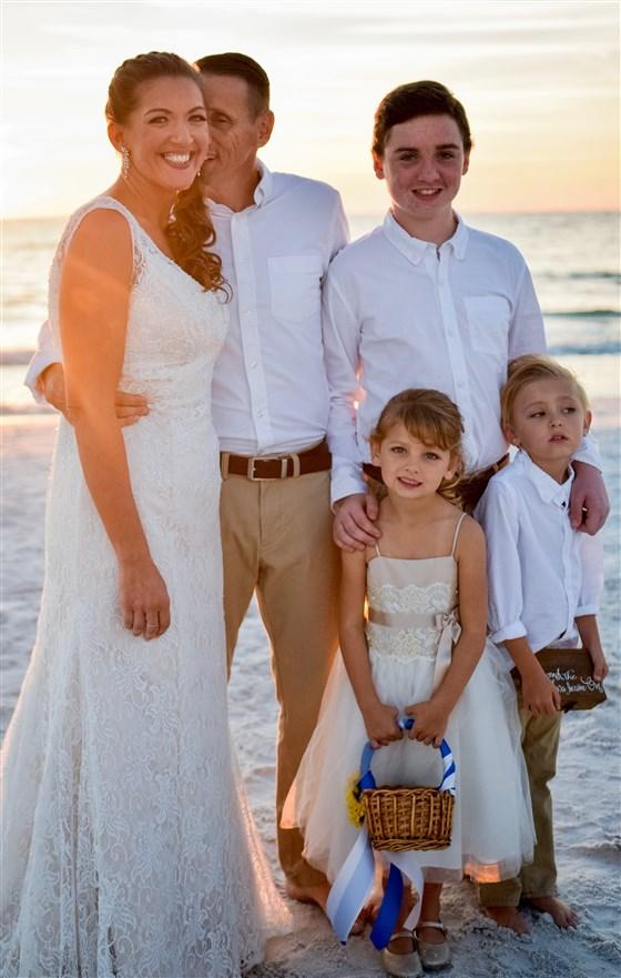 Carly Mesic with husband Brian and their children Bryce, Freedom and Brianna. Supplied by Carly Mesic, Courtesy of TODAY.