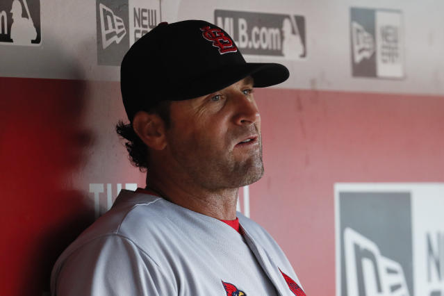 Is it time for Mike Matheny to go in St. Louis? (AP Photo/John Minchillo)