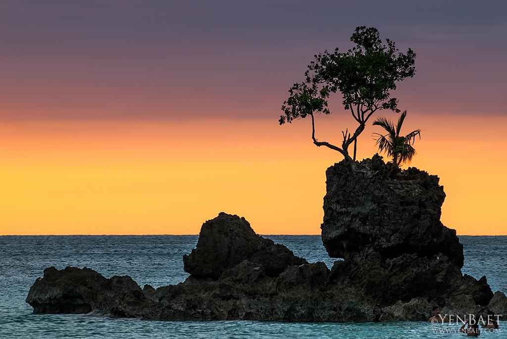 Willy's Rock is a volcanic  rock formation, that is one of Boracay's most photographed landmarks. A shrine to the Virgin Mary is at the top of the rock. (Yen Baet)