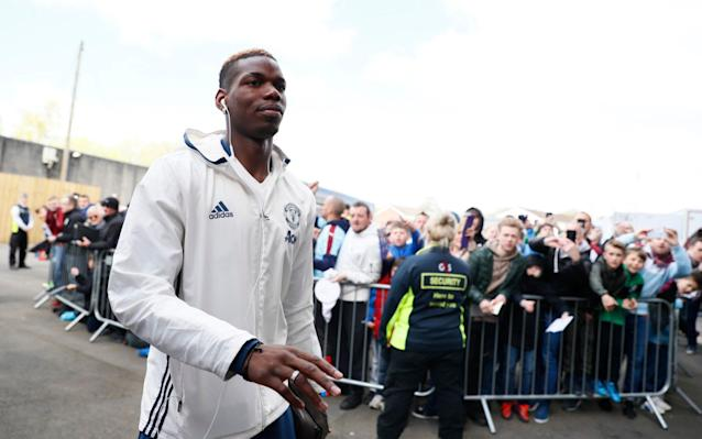 <span>Manchester United's Paul Pogba arrives before the match</span> <span>Credit: Reuters </span>
