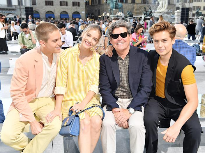 Dylan Sprouse, Barbara Palvin, Matthew Sprouse and Cole Sprouse
