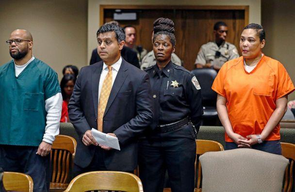 PHOTO: Sherra Wright and co-defendant Billy Ray Turner appear in court in Memphis, Tenn., Oct. 5, 2018. They are being charged with killing Wright's ex-husband NBA star Lorenzen Wright. (Mark Weber/The Commercial Appeal via USA Today Network, FILE)