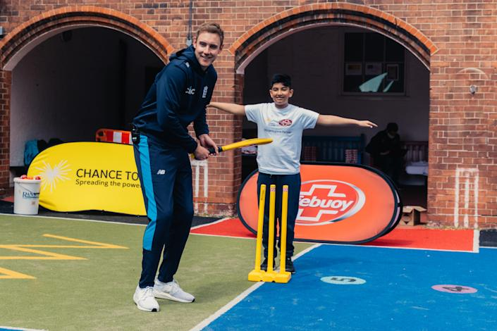 Broad was taking part in an event at Hague Primary School.