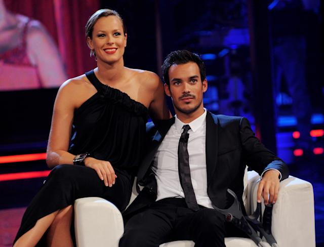 MILAN, ITALY - SEPTEMBER 14: (L-R) Federica Pellegrini and Luca Marin attend 'Chiambretti Night' Italian Tv Show held at Canale 5 Studios on September 14, 2010 in Milan, Italy. (Photo by Stefania D'Alessandro/Getty Images)