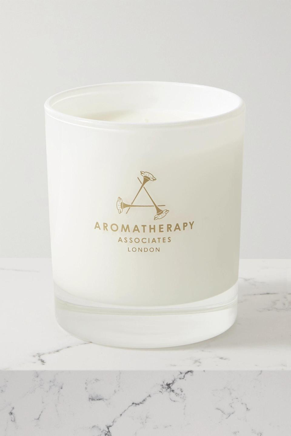 "<p><strong>Aromatherapy Associates</strong></p><p>net-a-porter.com</p><p><strong>$69.00</strong></p><p><a href=""https://go.redirectingat.com?id=74968X1596630&url=https%3A%2F%2Fwww.net-a-porter.com%2Fen-us%2Fshop%2Fproduct%2Faromatherapy-associates%2Finner-strength-candle%2F1261834&sref=https%3A%2F%2Fwww.cosmopolitan.com%2Flifestyle%2Fg28518643%2Fluxury-candles%2F"" rel=""nofollow noopener"" target=""_blank"" data-ylk=""slk:Shop Now"" class=""link rapid-noclick-resp"">Shop Now</a></p><p>How good does a spa day sound RN? Channel a relaxing retreat at-home with this candle that exudes a peaceful ambiance. The essential oils work together to create a soothing experience when lit. </p>"