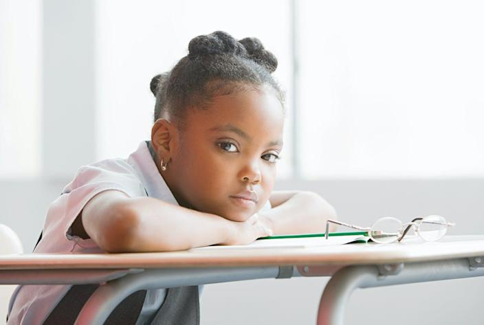 """<span class=""""caption"""">The strict discipline of 'no-excuses' charter schools can often make students feel stressed out. </span> <span class=""""attribution""""><a class=""""link rapid-noclick-resp"""" href=""""https://www.gettyimages.com/detail/photo/schoolgirl-in-class-royalty-free-image/88434344?adppopup=true"""" rel=""""nofollow noopener"""" target=""""_blank"""" data-ylk=""""slk:Image Source/Getty Images"""">Image Source/Getty Images</a></span>"""