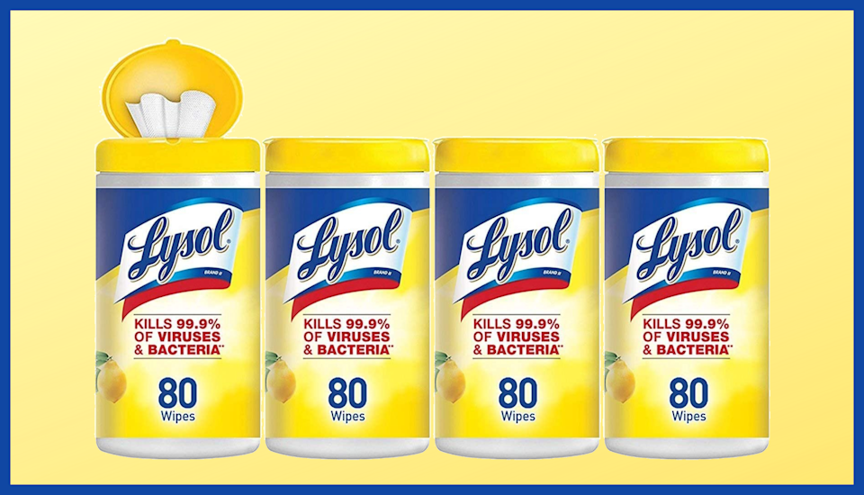 Now you have the chance to top up with Lysol Desinfecting Wipes.  (Photo: Amazon)