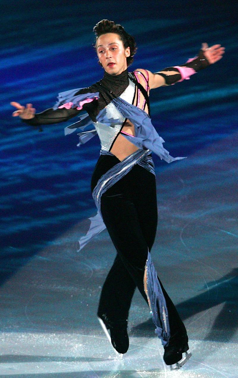 Performing in an exhibition program during the International Counter Match Figure Skating Competition, USA vs. Japan, at the Shin-Yokohama Prince Hotel Skate Center on Oct. 7, 2007, in Yokohama, Japan.