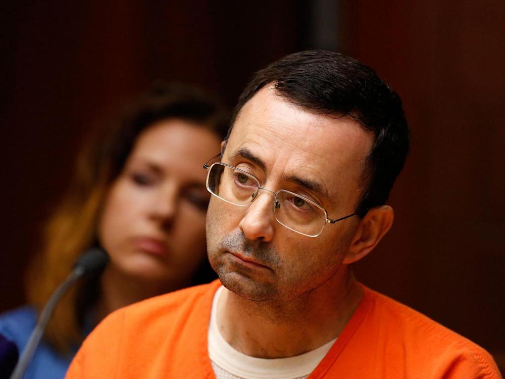 Dr. Larry Nassar is in jail in Michigan awaiting sentencing after pleading guilty to possession of child pornography (Getty)
