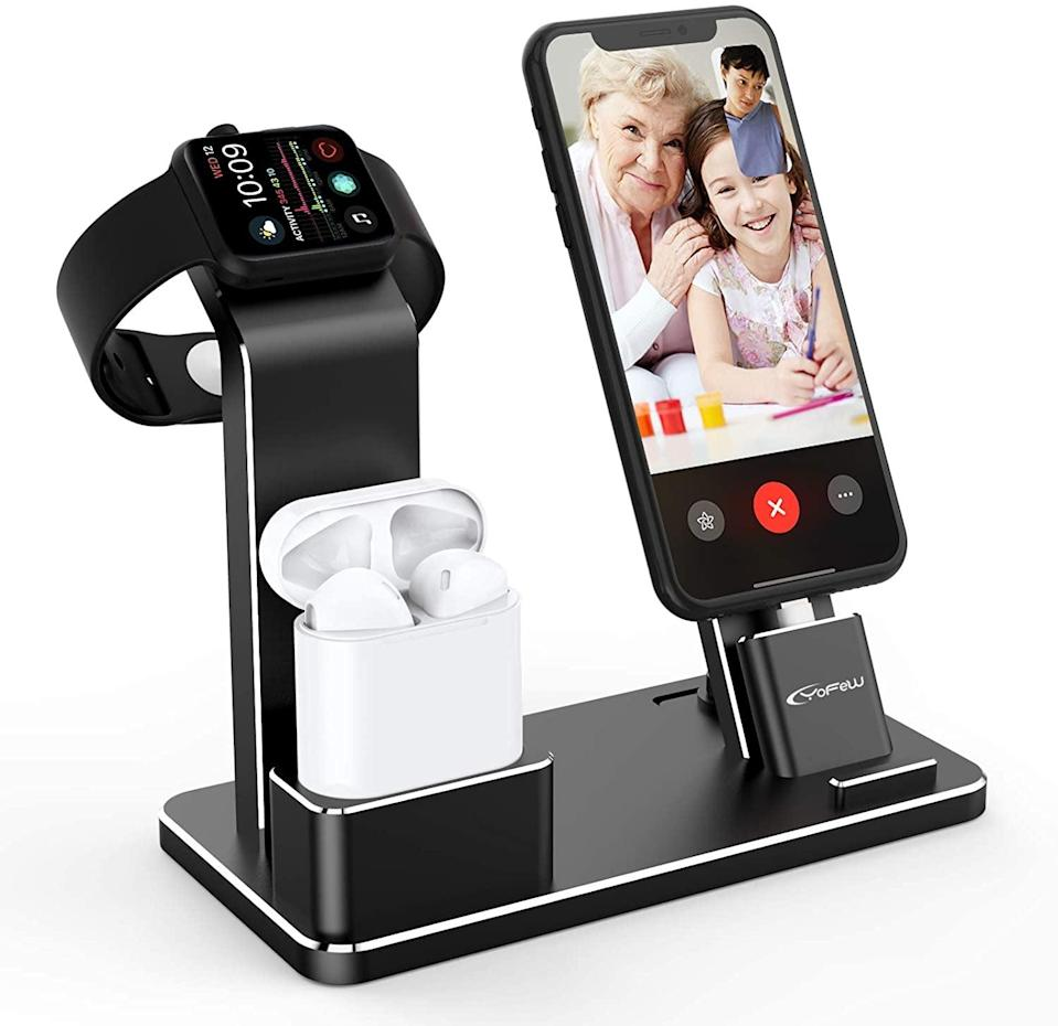 <p>Keep your devices fully charged all the time with this <span>Charging Stand for Apple Products</span> ($32).</p>