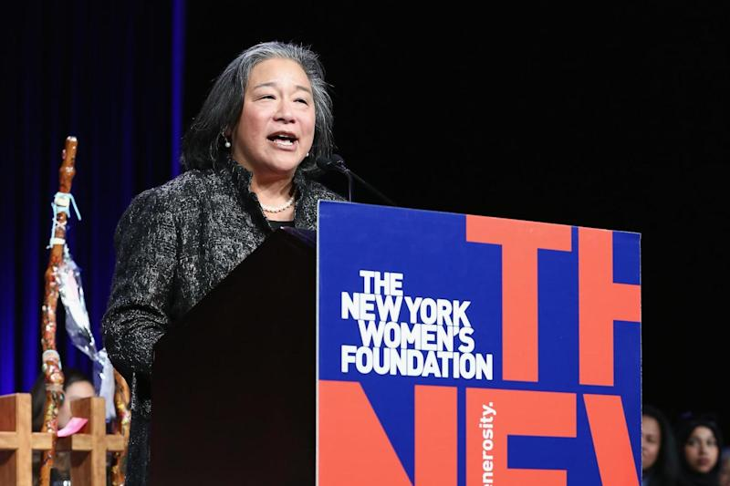 Tina Tchen, President Obama's former aide, speaks in New York in May 2017: Getty Images for The New York Wo